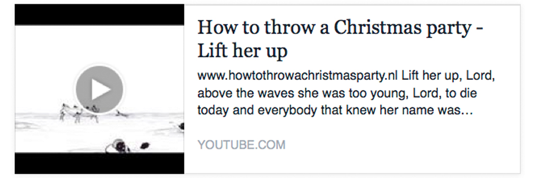 Animatie bij Lift her up - How to throw a Christmas party
